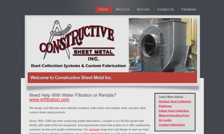 Constructive Sheet Metal, Inc.
