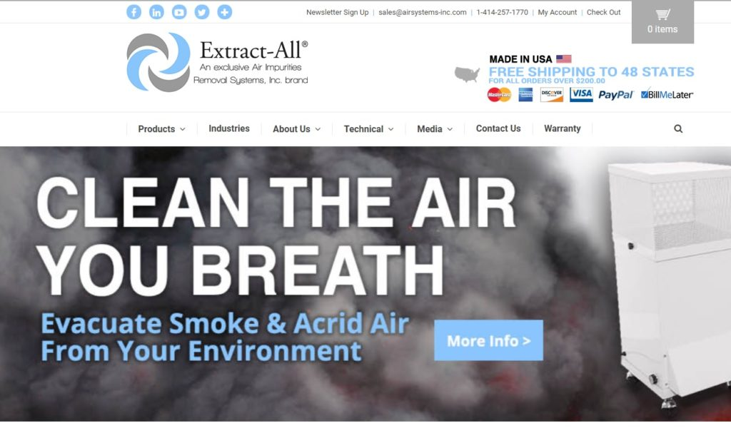 Air Impurities Removal Systems